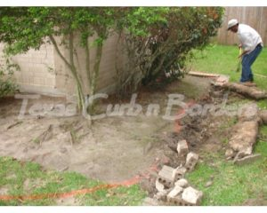 Walters custom concrete stamp installation before image